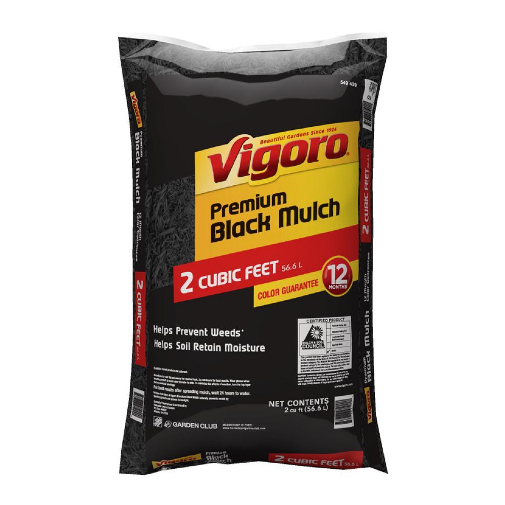 Vigoro 2 cu. ft. Bagged Black Mulch