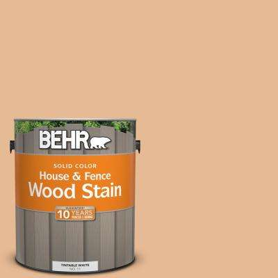 1 gal. #280C-3 Fresh Praline Solid Color House and Fence Exterior Wood Stain