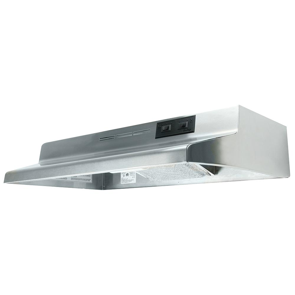Ad Series 36 In. Under Cabinet Ductless Range Hood With Light In Stainless Steel by Air King