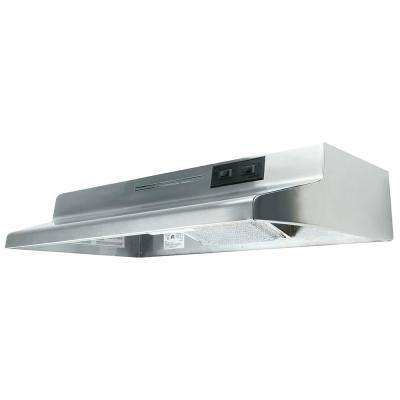 AD Series 36 in. Under Cabinet Ductless Range Hood with Light in Stainless Steel