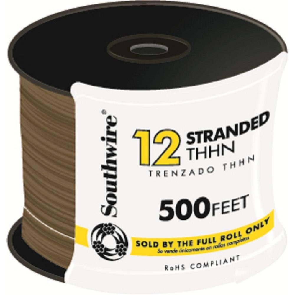 500 ft. 12 Brown Stranded CU THHN Wire