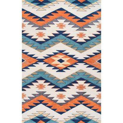 Hand Hooked Tribal Rhona Multi Colored 9 X 12 Area Rug