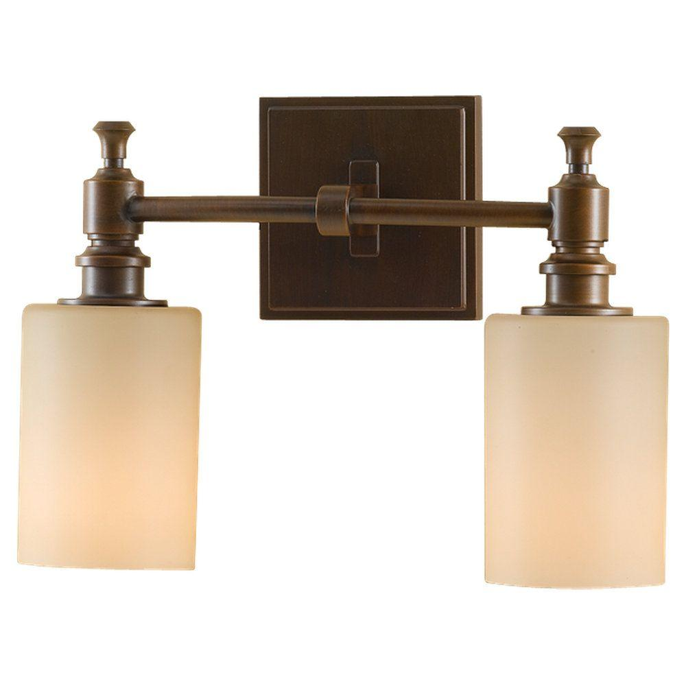 Sullivan 2-Light Heritage Bronze Vanity Light