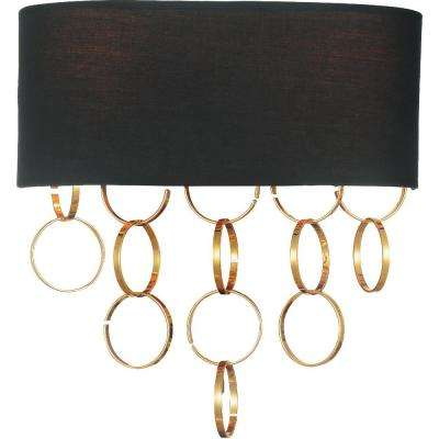 Chained 2-Light Gold Sconce