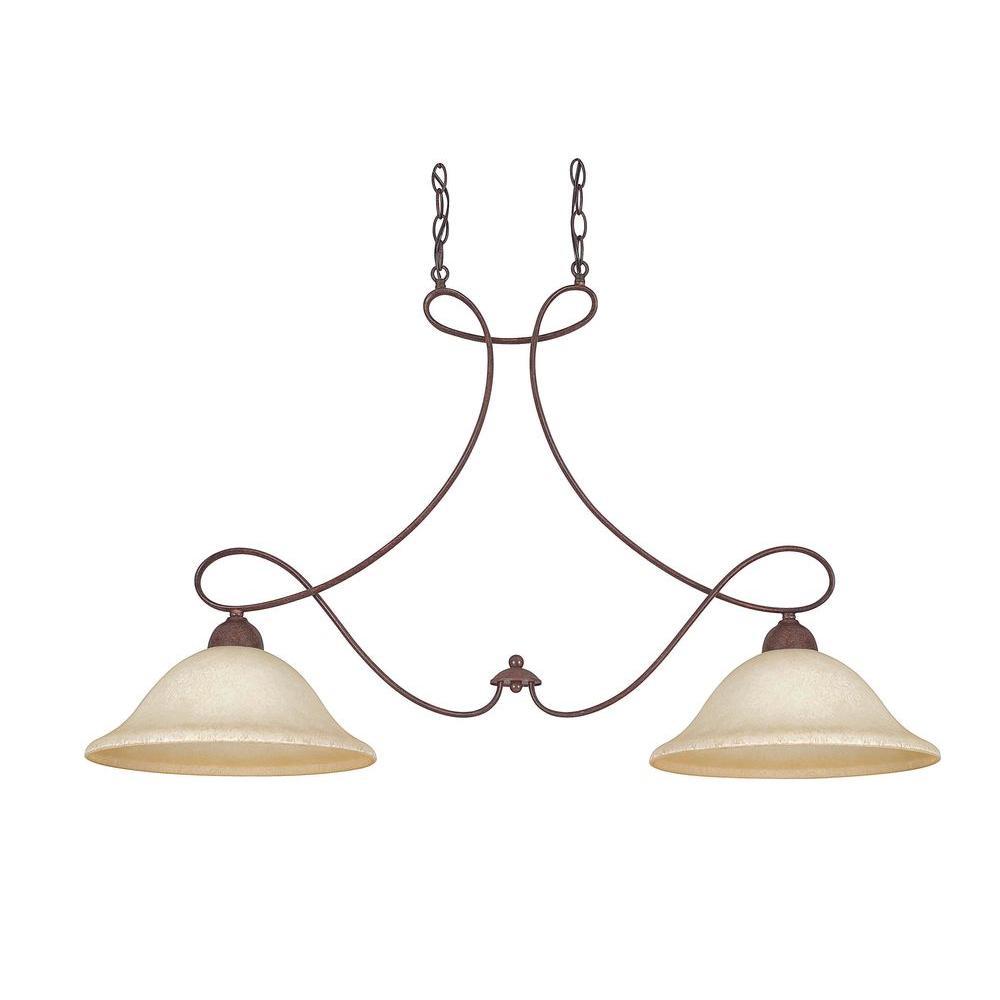 Valentine 2-Light Oil Rubbed Bronze Island Light