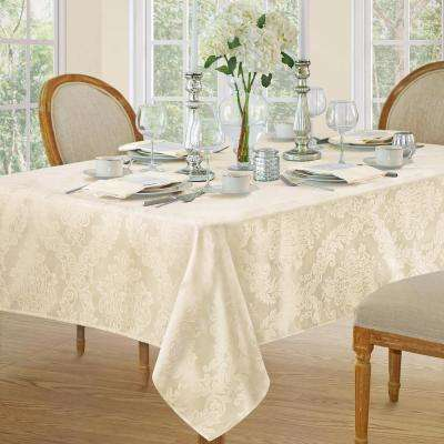 52 in. W X 52 in. L Antique Elrene Barcelona Damask Fabric Tablecloth
