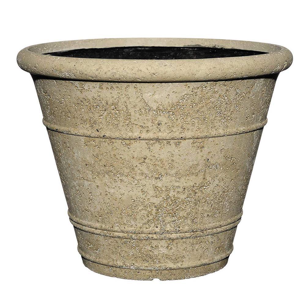 22 in. Anson Pot LavaStone Planter, Natural