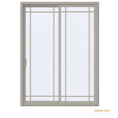 72 in. x 96 in. V-4500 Contemporary Desert Sand Vinyl Left-Hand 9 Lite Sliding Patio Door
