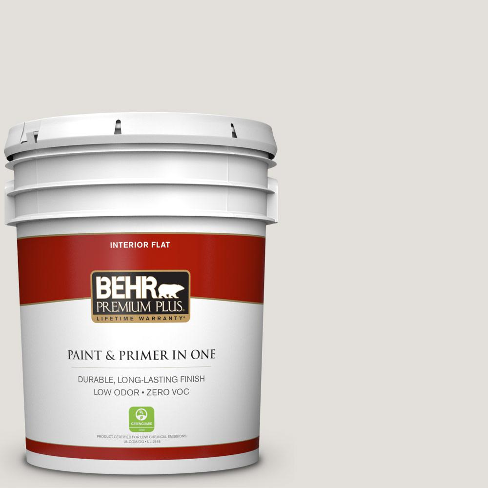 BEHR Premium Plus 5-gal. #PWN-63 Abalone Shell Zero VOC Flat Interior Paint