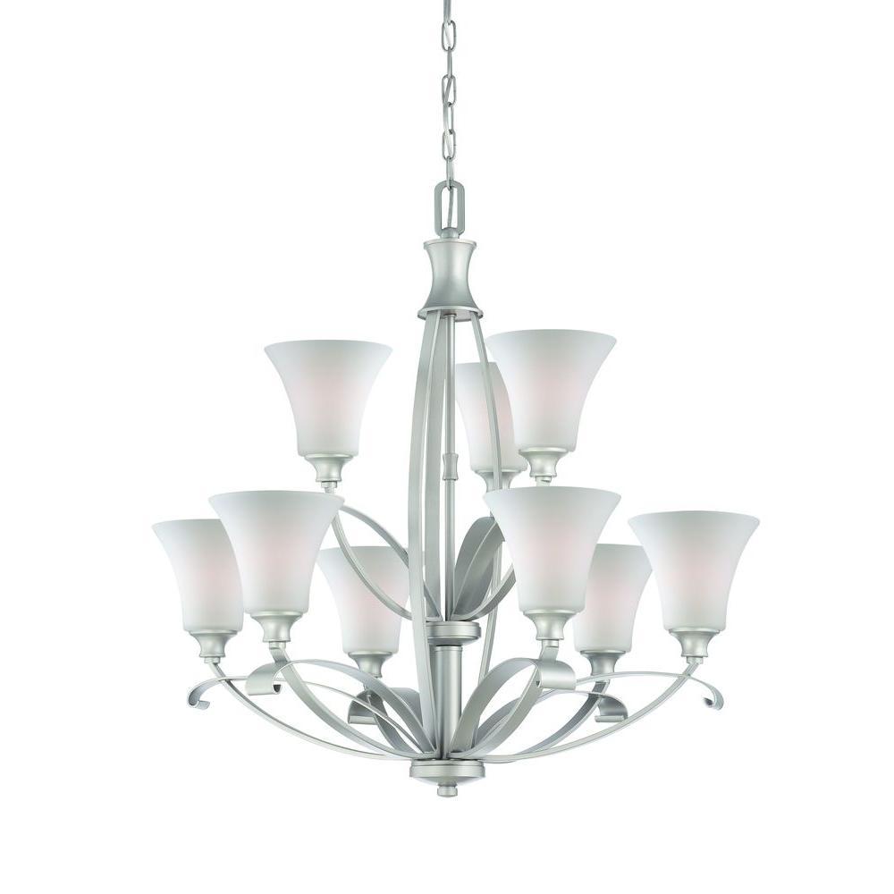 Thomas Lighting Magnolia 9-Light Matte Nickel Chandelier-DISCONTINUED