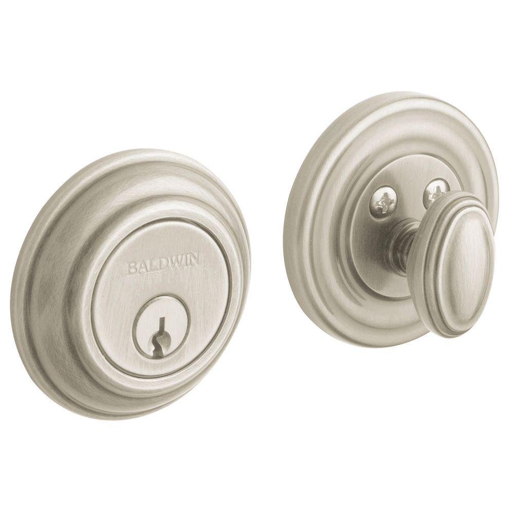 Baldwin Traditional Single Cylinder Satin Nickel Deadbolt