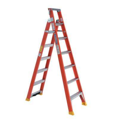 15 ft. Reach Fiberglass 2-in-1 Dual Purpose Ladder with 300 lb. Load Capacity Type IA Duty Rating