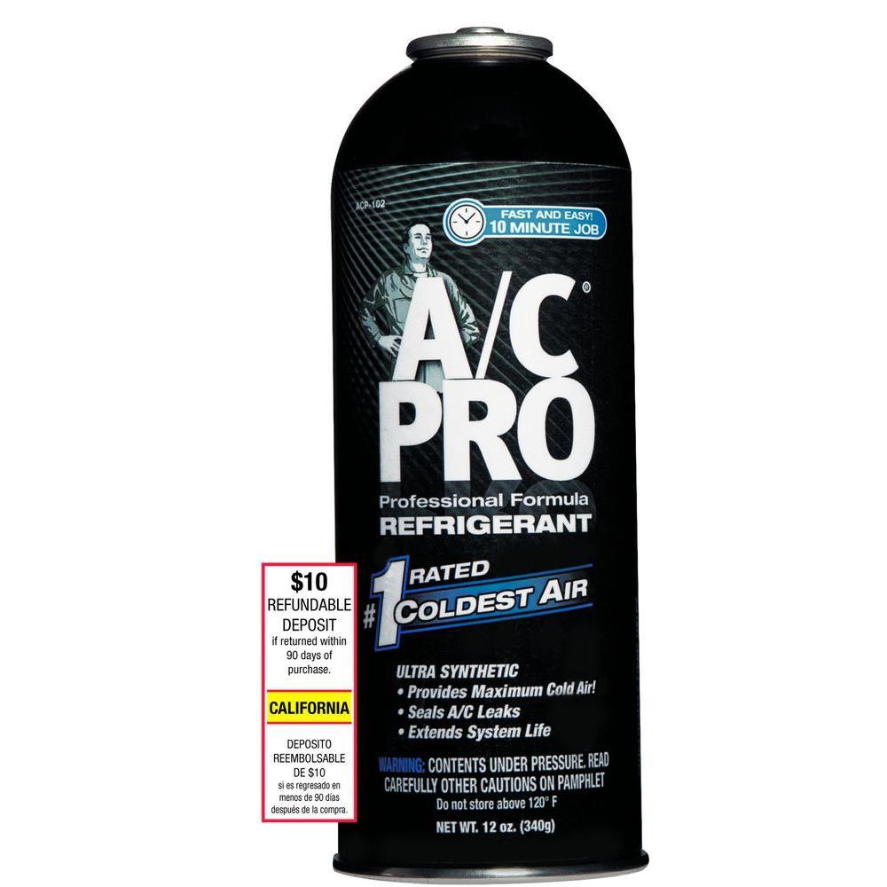 AC Pro 12 oz. Professional Formula Refrigerant with Additives