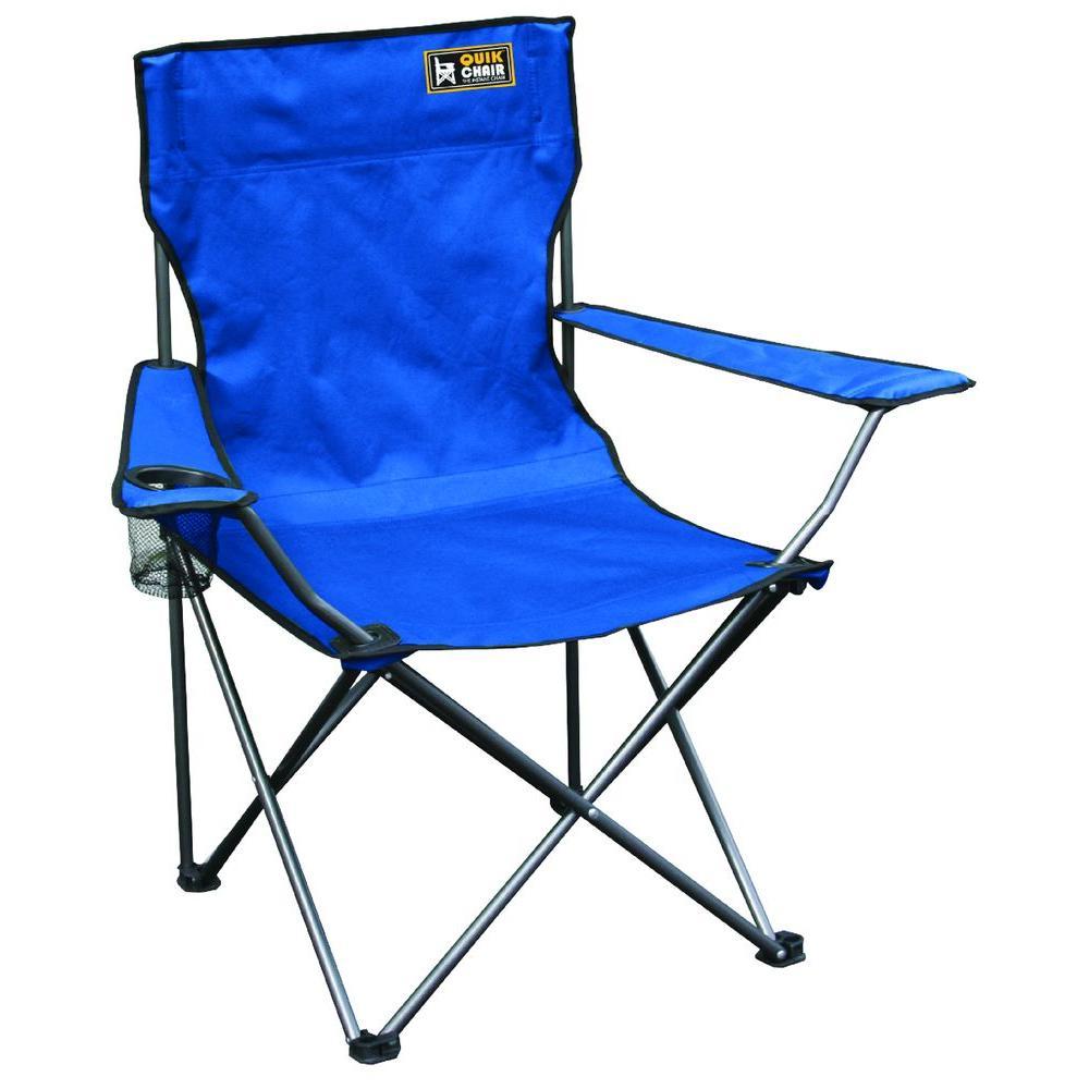 Quik Chair Blue Folding Patio Armchair