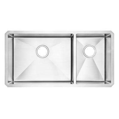 pekoe undermount stainless steel 35 in  2 hole double basin kitchen sink kit american standard   kitchen sink   kitchen sinks   kitchen   the      rh   homedepot com