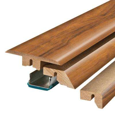 Golden Tigerwood 3/4 in. Thick x 2-1/8 in. Wide x 78-3/4 in. Length Laminate 4-in-1 Molding