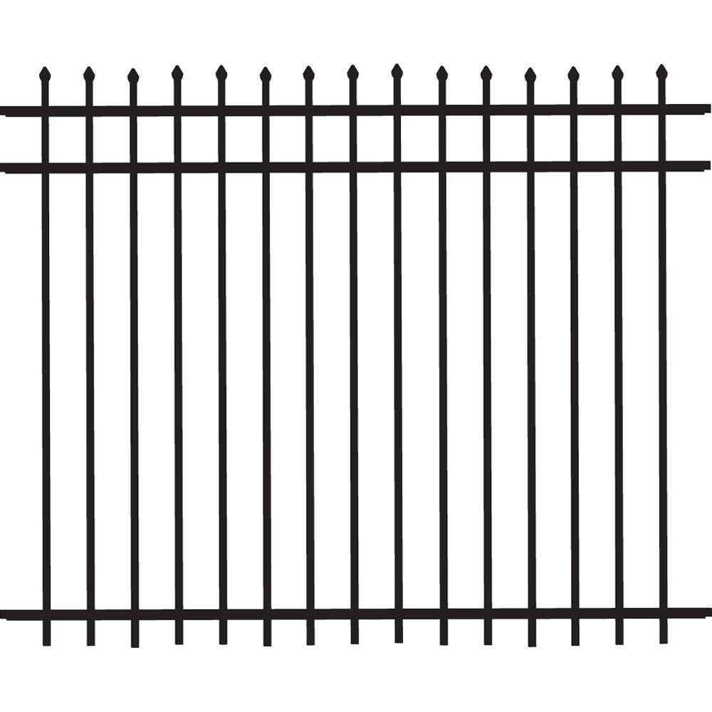 Cascade Standard-Duty 5 ft. H x 6 ft. W Black Aluminum