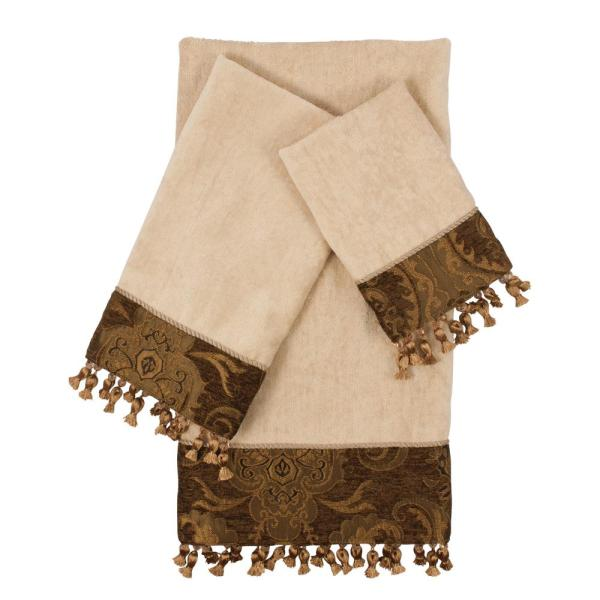 China Art Brown Decorative Towel Set 3 Piece