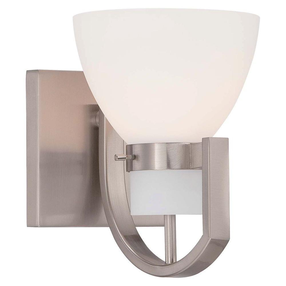 Hudson Bay 1-Light Brushed Nickel Bath Light
