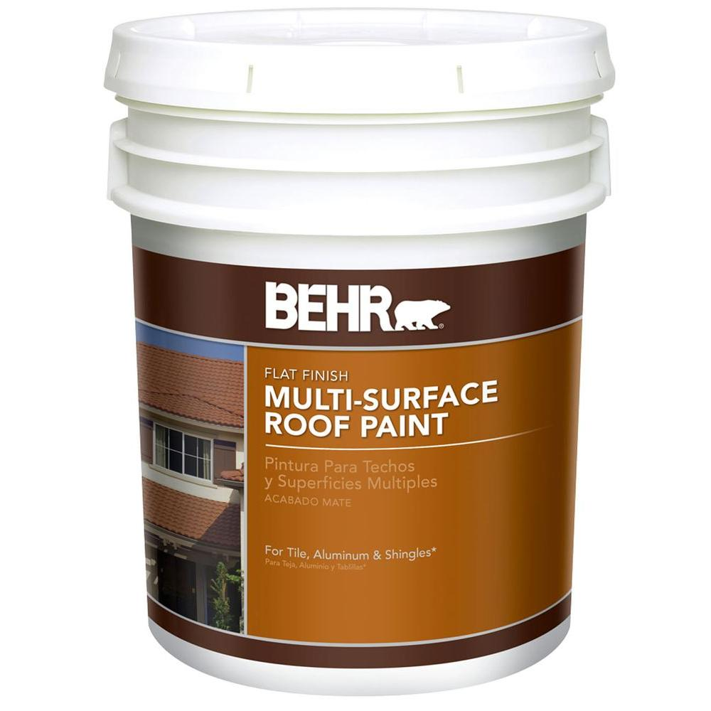 Behr 5 Gal Flat Latex Deep Base Roof Paint 06605 The