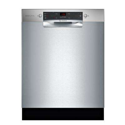 300 Series 24 in. ADA Front Control Tall Tub Dishwasher in Stainless Steel with Stainless Steel Tub, 46dBA