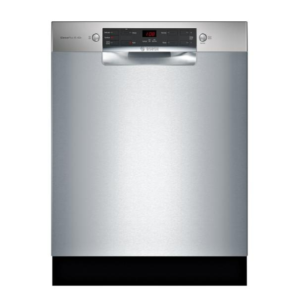 Bosch 300 Series 24 in. ADA Front Control Dishwasher in Stainless Steel with Stainless Steel Tub, 46dBA