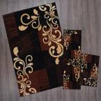 Ariana Ebony 5 ft. x 7 ft. 3-Piece Rug Set