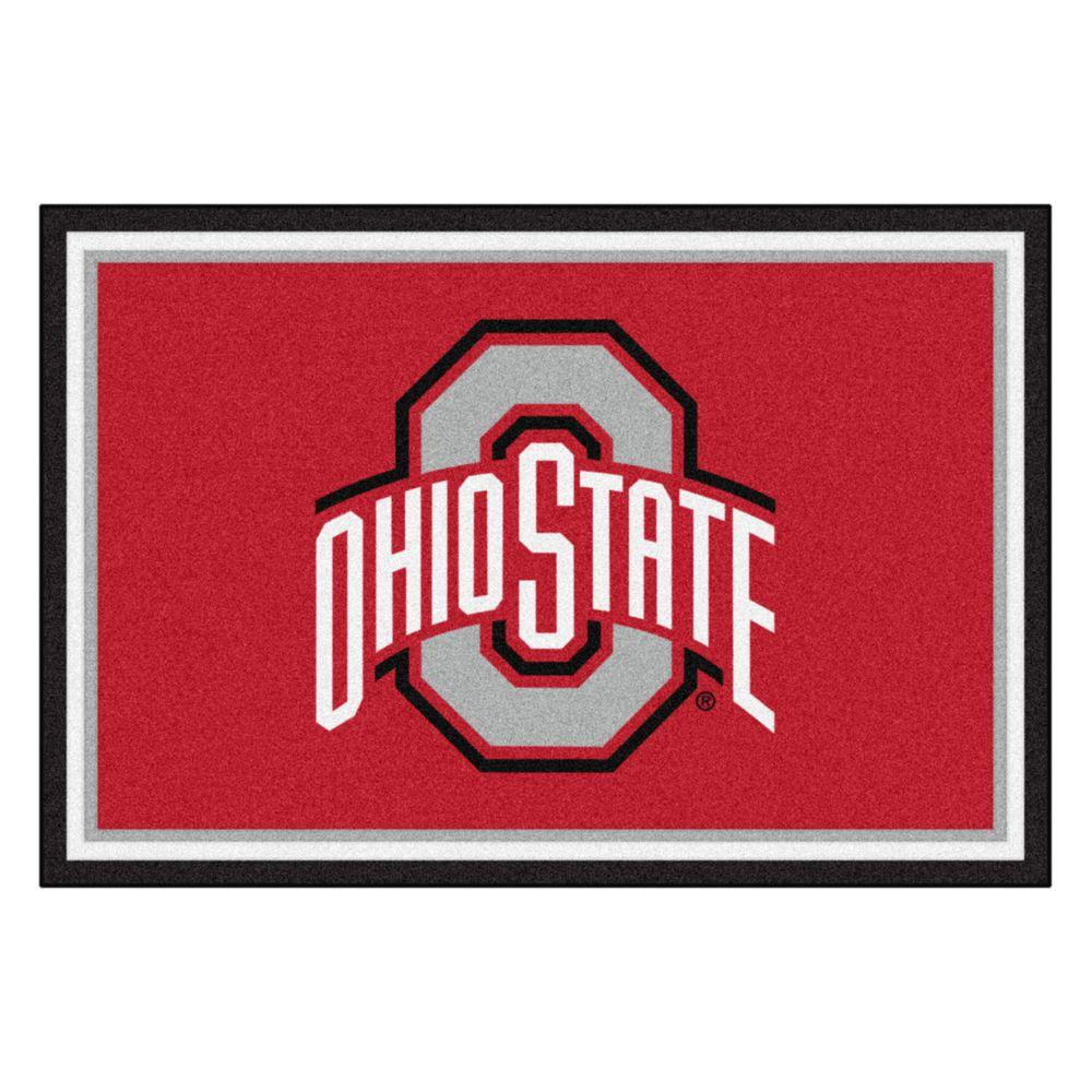 FANMATS Ohio State University 5 ft  x 8 ft  Area Rug