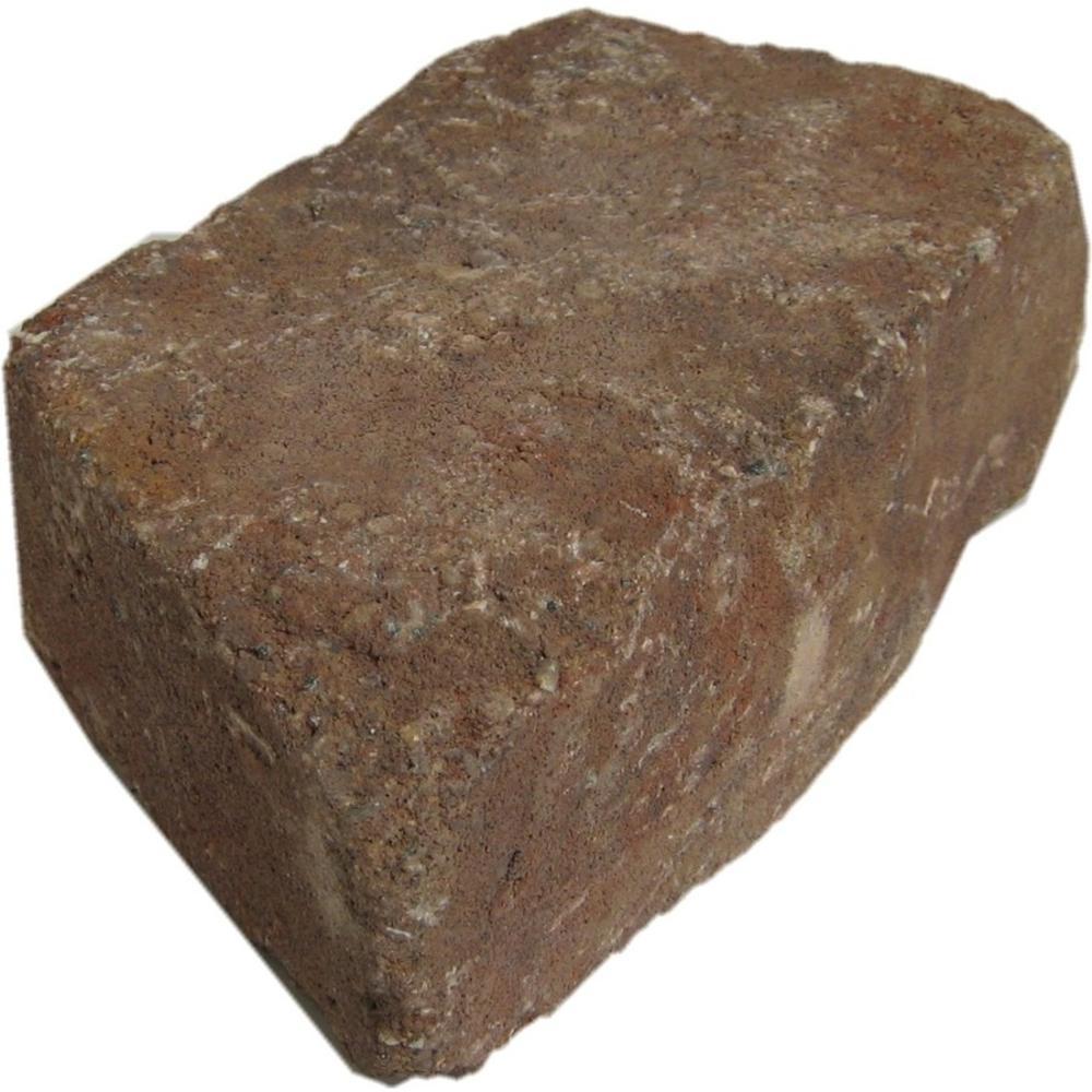 Oldcastle Mini Beltis 3 in. H x 8 in. W x 4 in. D Harvest Blend Concrete Retaining Wall Block (378-Piece/Pallet)