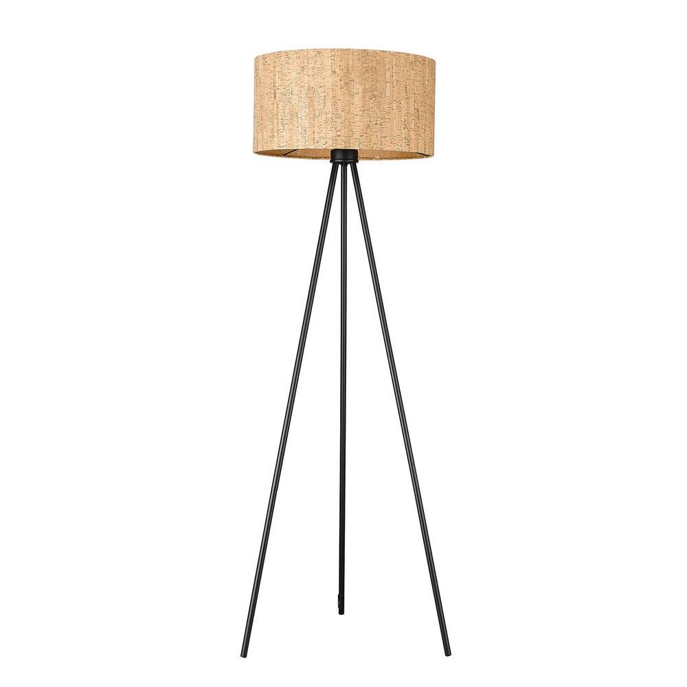 Lisbon 1-Light Matte Black Floor Lamp