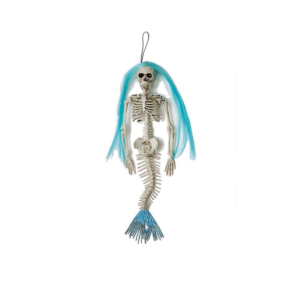 16 in. Mermaid Skeleton Halloween Prop (Set of 4)