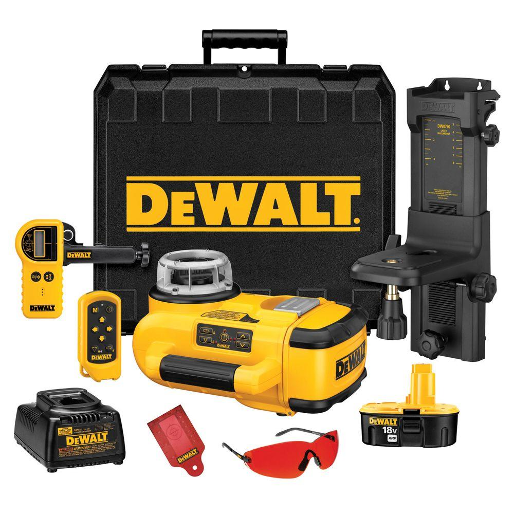 DEWALT 18-Volt Self-Leveling Rotary Laser Level Interior/Exterior Kit