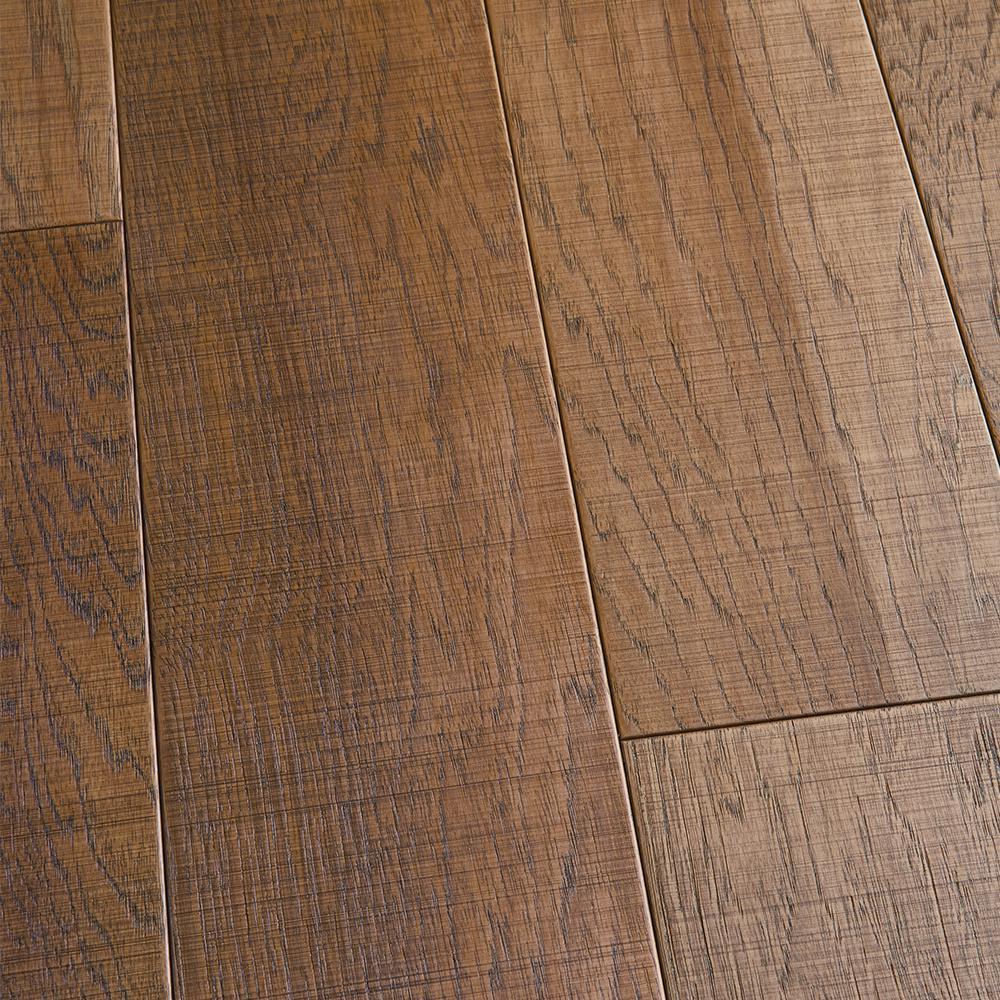 Malibu Wide Plank Take Home Sample - Hickory Capistrano Click Lock Engineered Hardwood Flooring - 5 in. x 7 in.