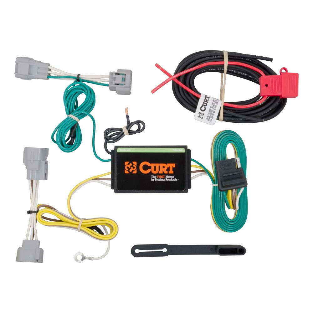 Incredible Curt Custom Wiring Harness 4 Way Flat Output 56208 The Home Depot Wiring Digital Resources Funapmognl
