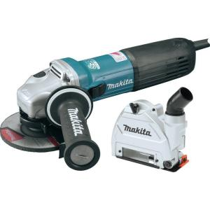 Makita 10 Amp SJS II Angle Grinder with 5 inch Tuck Point Guard by Makita