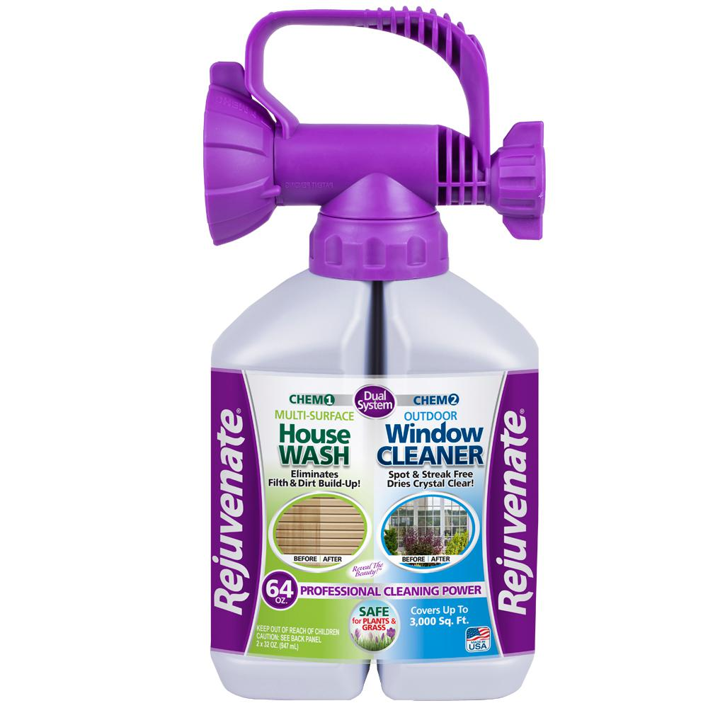 Rejuvenate 64 oz. Dual System Outdoor House Wash and Window Cleaner