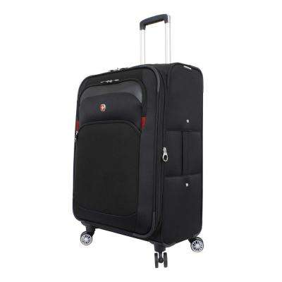 24.5 in. Upright Spinner Suitcase in Black