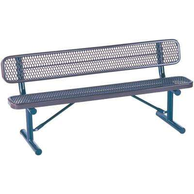 Park 8 ft. Blue Commercial Bench