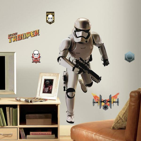 5 in. W x 19 in. H Star Wars EP VII Storm Trooper 10-Piece Peel and Stick Giant Wall Decal