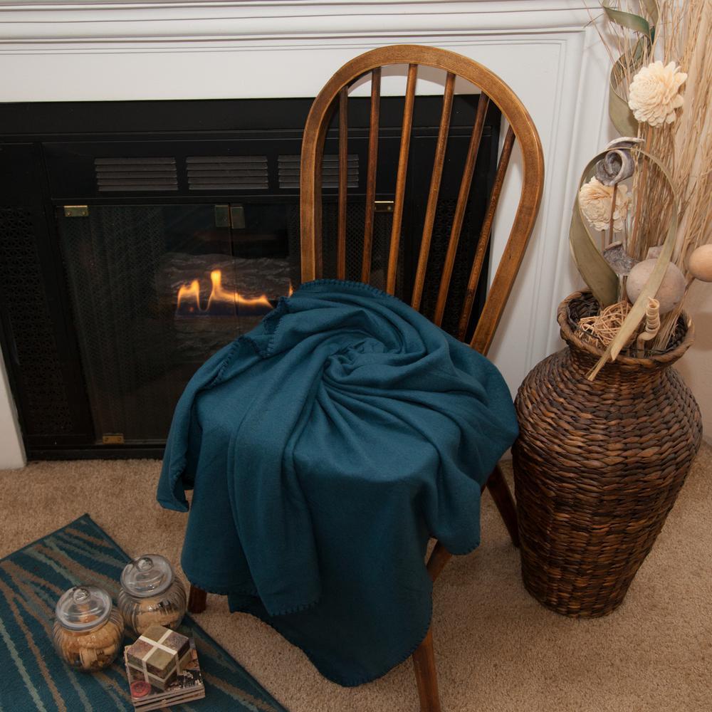 50 in. x 60 in. Navy Blue Super Soft Fleece Throw Blanket (24-Pack)