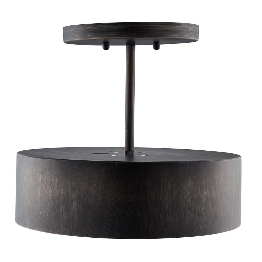 Southern Enterprises Geane 1-Light Bronze Semi-Flush Mount Lamp was $99.99 now $45.19 (55.0% off)