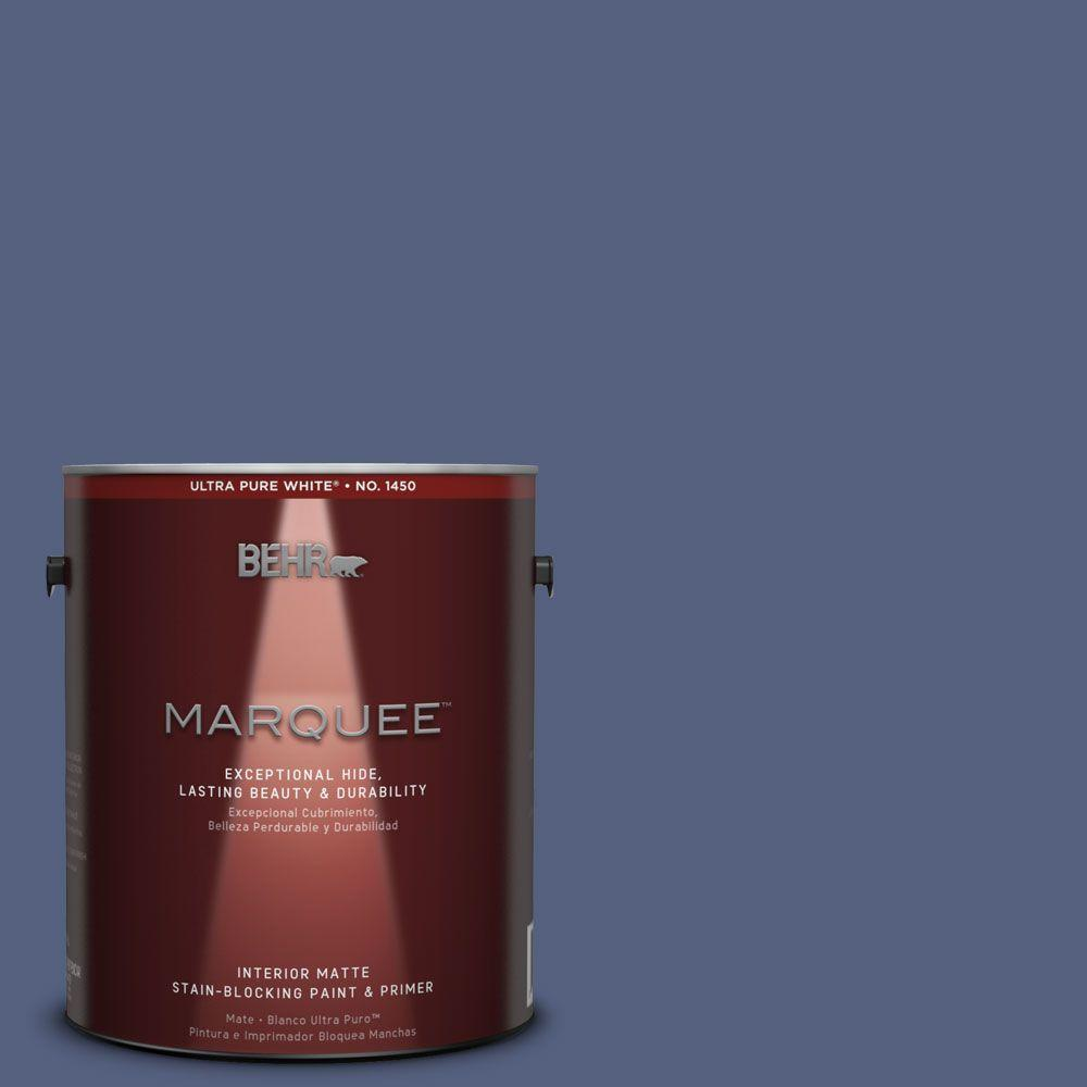 BEHR MARQUEE 1 gal. #MQ5-15 Award Night Matte One-Coat Hide Interior Paint and Primer in One
