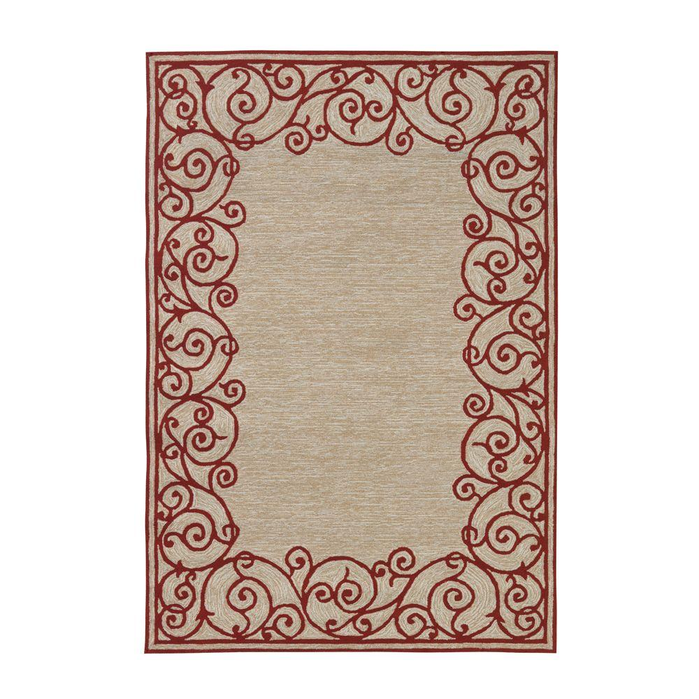 Home Decorators Collection Estate Red 7 ft. 6 in. x 9 ft. 6 in. Area Rug