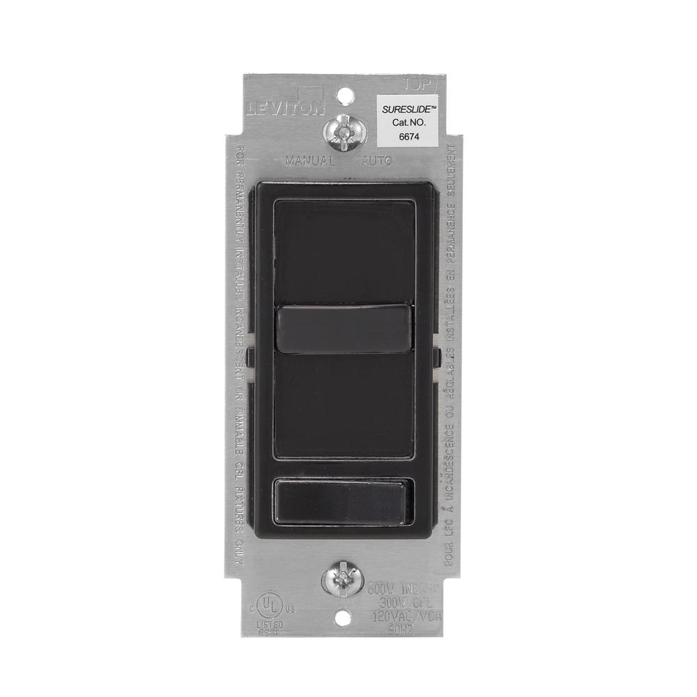 150-Watt LED and CFL Incandescent Dimmer, Black