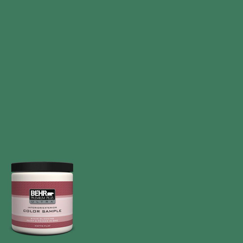 8 oz. #470D-6 Greenbelt Matte Interior/Exterior Paint and Primer in One