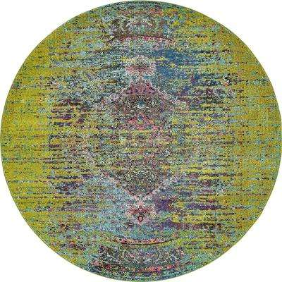 Arte Green 8 ft. x 8 ft. Round Area Rug