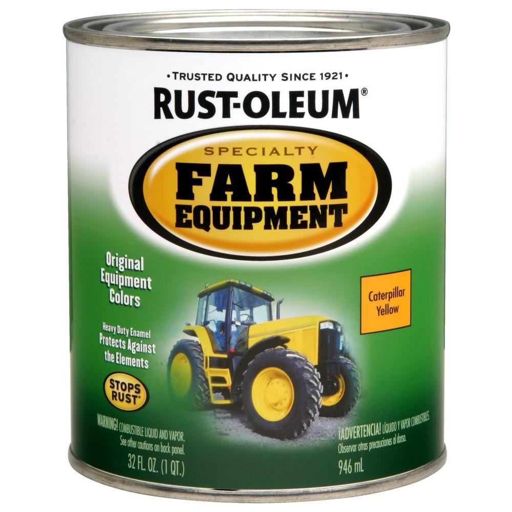 1 qt. Farm Equipment Caterpillar Yellow Gloss Enamel Paint (2-Pack)
