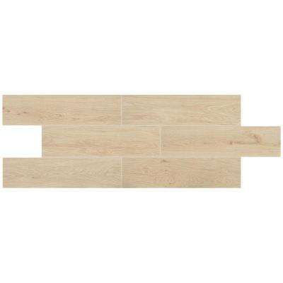 Kenwood White 6 in. x 24 in. Glazed Porcelain Floor and Wall Tile (14.53 sq. ft. / case)