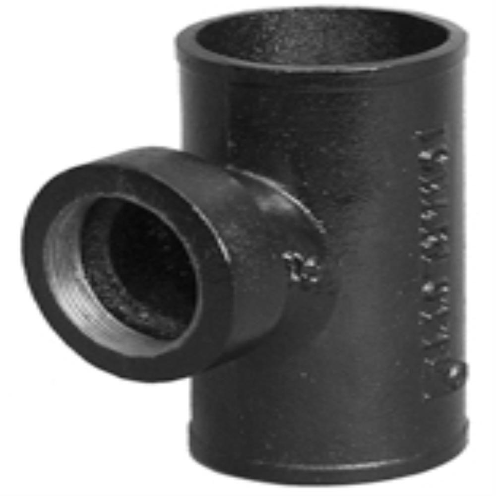 Charlotte Pipe 2 In Cast Iron Dwv No Hub Tapped Sanitary