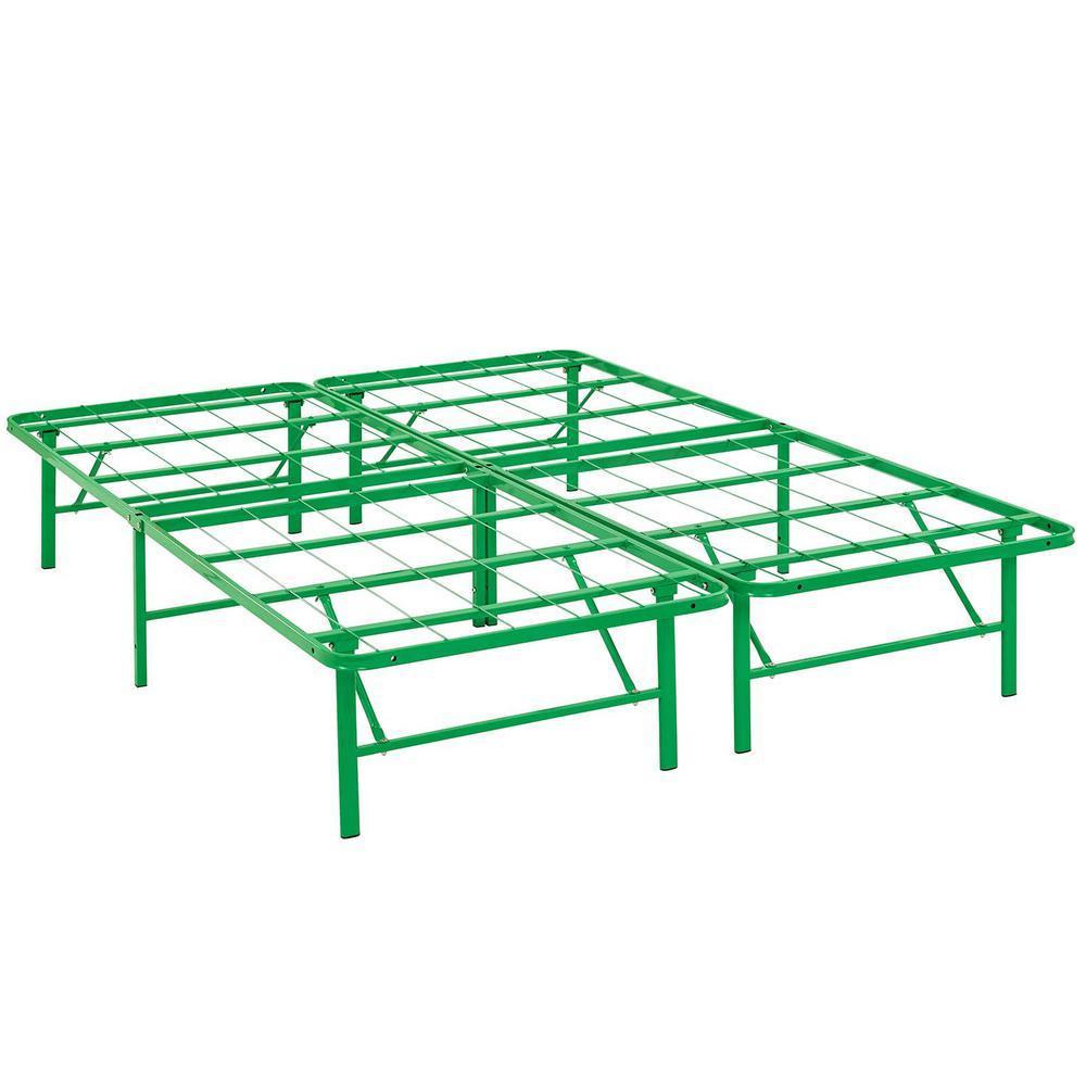 Horizon Green Full Stainless Steel Bed Frame